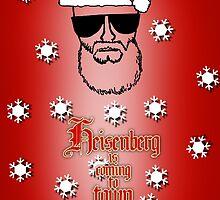 Red - Heisenberg Christmas Card by Surpryse