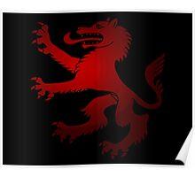 Royal Werewolf Red Clan Symbol Poster