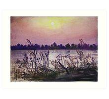Sukhna Lake through a Writer's Lens Art Print