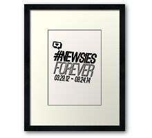 #newsiesforever (USA date format version) Framed Print