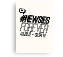 #newsiesforever (USA date format version) Canvas Print