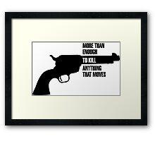 Metal Gear Solid Revolver Ocelot  Framed Print