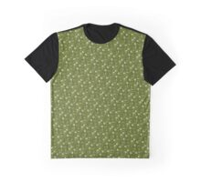 Apple-Green Floral  Graphic T-Shirt