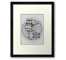 Joyful Noise -- black and white variant Framed Print