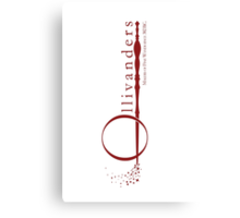 Ollivanders Logo in Red Canvas Print