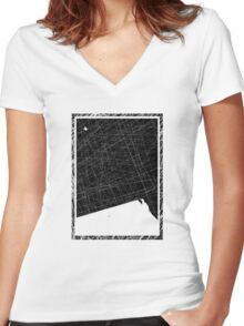 It's a Bird It's a Plane!! (Black) Women's Fitted V-Neck T-Shirt