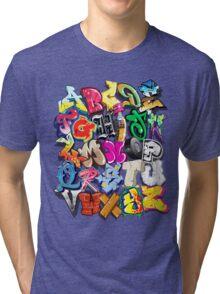 Graffiti Alphabet  Tri-blend T-Shirt