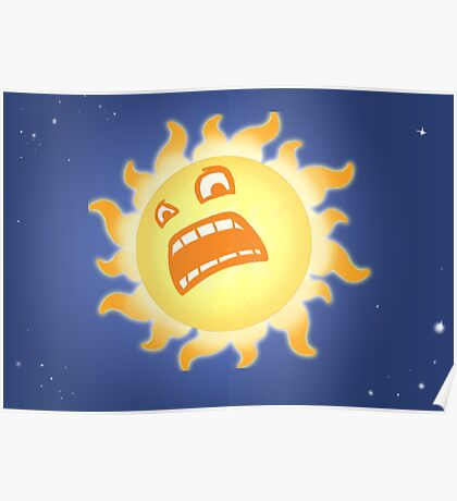 Scared Sun Poster