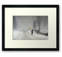 Headed Home:20 inches and Still Coming Down Framed Print