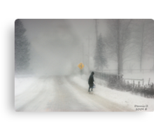 Headed Home:20 inches and Still Coming Down Metal Print