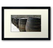Whiskey Barrels Framed Print