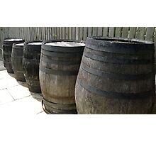 Whiskey Barrels Photographic Print
