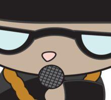 Rapper Cat in Bell Hat Sticker
