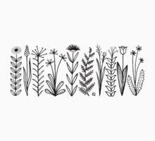 Blumenmuster scharz/weiß / flower pattern Kids Tee