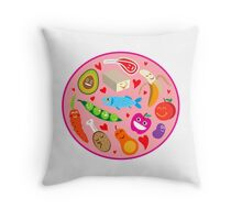 Our Daily Food! Throw Pillow
