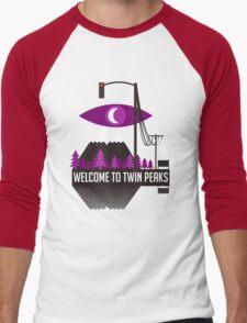 Welcome To Twin Peaks (Trees Alternate) Men's Baseball ¾ T-Shirt