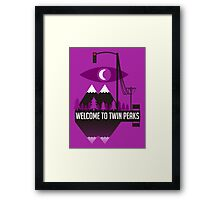 Welcome To Twin Peaks (Trees Alternate) Framed Print