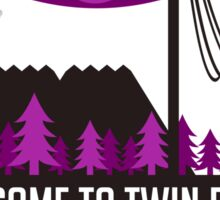 Welcome To Twin Peaks (Trees Alternate) Sticker