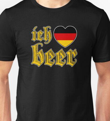 Ich Liebe Beer I Love Beer Unisex T-Shirt