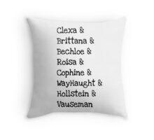 Main Lesbian Ships Throw Pillow