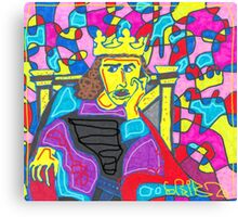 Scribz King of The PAint Canvas Print