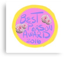 Best Person Award 2016 Canvas Print