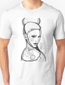 Fashion sketch portrait by MrNobody Unisex T-Shirt