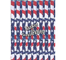Basket of Deplorables on red, white, blue background Photographic Print
