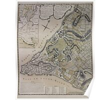 442 Plan of New York City of New York and its environs to Greenwich Town Survey'd in the winter 1775 Poster
