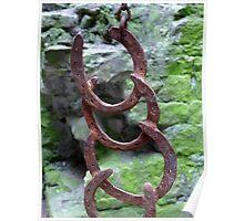 Horse shoe gong at Beaumaris Castle. Poster