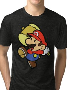 Paper Mario Hammer Time Tri-blend T-Shirt