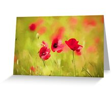 Poppy art by David Tovey Greeting Card