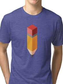 Isometric pencil Tri-blend T-Shirt