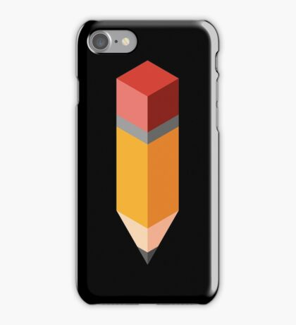 Isometric pencil iPhone Case/Skin