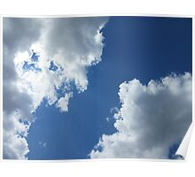 Clouds in the Blue Sky Poster