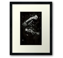 0108 - Brush and Ink - All Hallows Flight and Storm Framed Print
