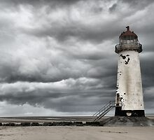 Talacre Lighthouse, Point of Ayr, Wales, UK by Allen Lucas