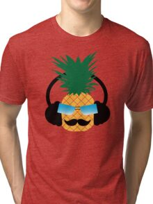 Funny pineapple lover music Tri-blend T-Shirt