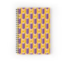 Purple isometric pencil Spiral Notebook