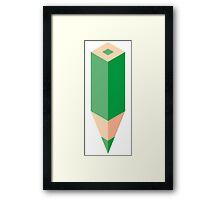Green Pencil Framed Print