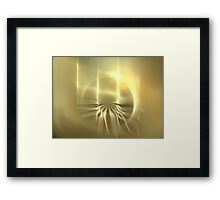 Sun Jellyfish Framed Print