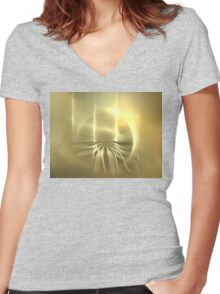 Sun Jellyfish Women's Fitted V-Neck T-Shirt