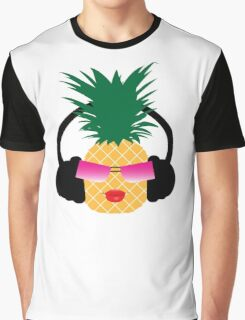 Funny cartoon pineapple lover music Graphic T-Shirt