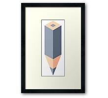Gray pencil Framed Print