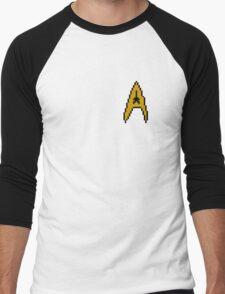 Pixel Starfleet Logo Men's Baseball ¾ T-Shirt