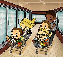Team Arrow Goes grocery shopping! by TheKeyThief