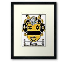 Burns Coat of Arms (Irish) Framed Print