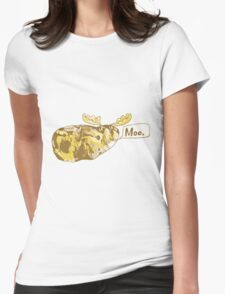Mooing Moose Potato Womens Fitted T-Shirt