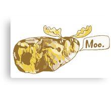 Mooing Moose Potato Canvas Print