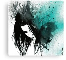 This Confession Means Nothing: Turquoise Canvas Print